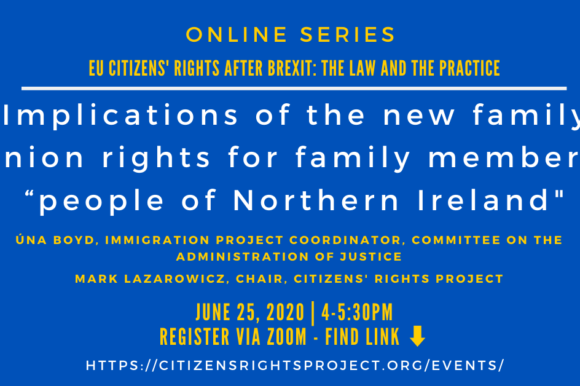 Joint webinar with Northern Ireland human rights group