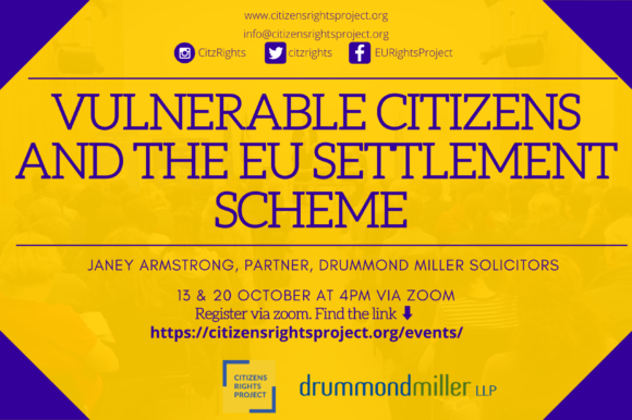 Citizens Rights Project to brief local authority staff working with vulnerable EU nationals about the EU Settlement Scheme